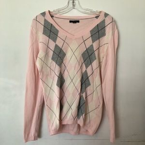 Argyle pullover sweater